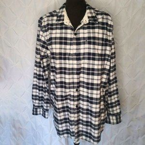 On The Byas plaid tunic button front